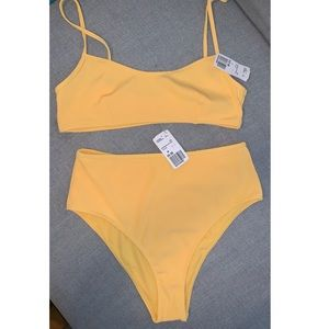 NEW Forever 21 Yellow Swimsuit